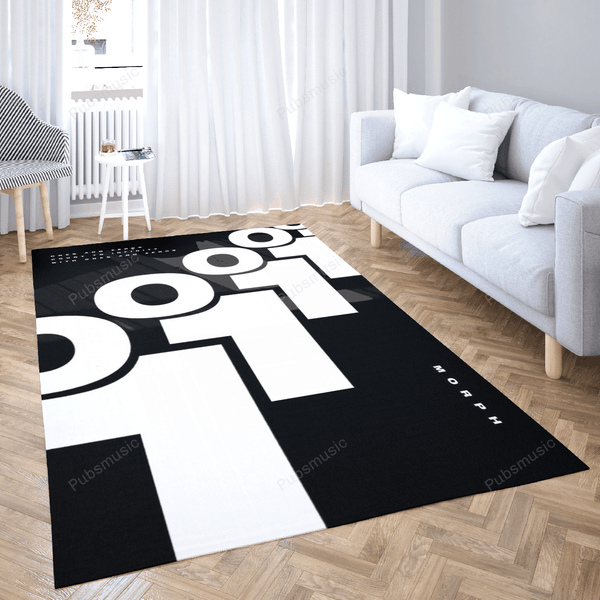 Minimalistic Morph TOP  - Music Art For Fans Area Rug Living Room Carpet Floor Decor