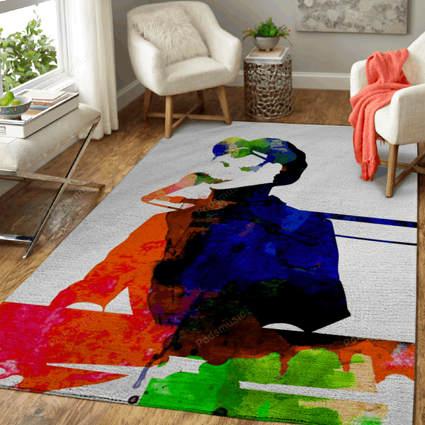 Stevie Watercolor - Music Legends Art For Fans Area Rug Living Room Carpet Floor Decor