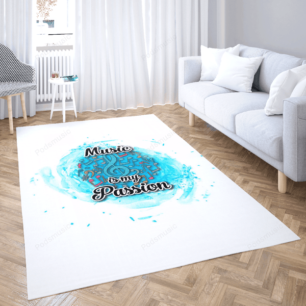 Music Passion - Music Passion Art For Fans Area Rug Living Room Carpet Floor Decor