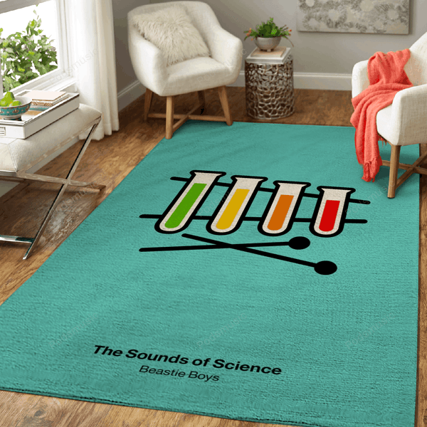 The Sounds of Science - Music Art For Fans Area Rug Living Room Carpet Floor Decor