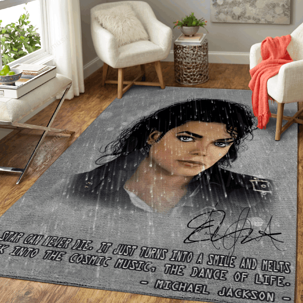 Michael Jackson Artwork - Pop Music Collection Art For Fans Area Rug Living Room Carpet Floor Decor