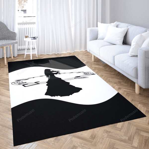 The creative violinist - Music Art For Fans Area Rug Living Room Carpet Floor Decor