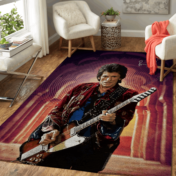 Ronnie Wood - Music Art For Fans Area Rug Living Room Carpet Floor Decor