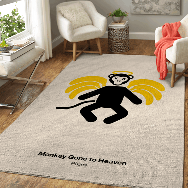Monkey Gone to Heaven - Music Art For Fans Area Rug Living Room Carpet Floor Decor