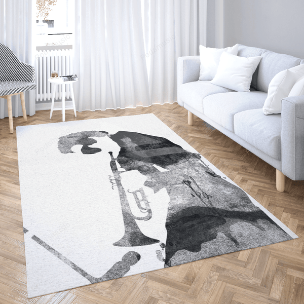 Miles music - Rock Stars Art For Fans Area Rug Living Room Carpet Floor Decor