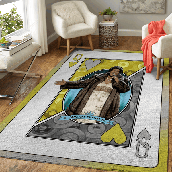 Queen Aretha Franklin - Queens Of Music Art For Fans Area Rug Living Room Carpet Floor Decor