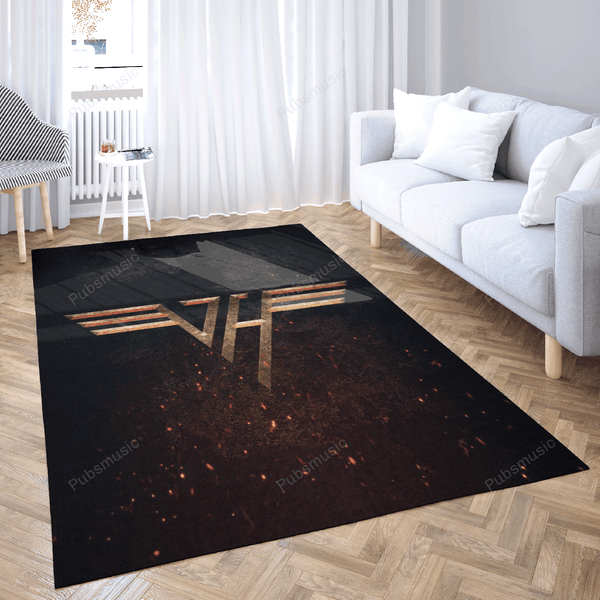 VAN HALEN SIGN - Music Symbols Art For Fans Area Rug Living Room Carpet Floor Decor
