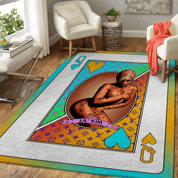 Queen Lil Kim - Queens Of Music Art For Fans Area Rug Living Room Carpet Floor Decor