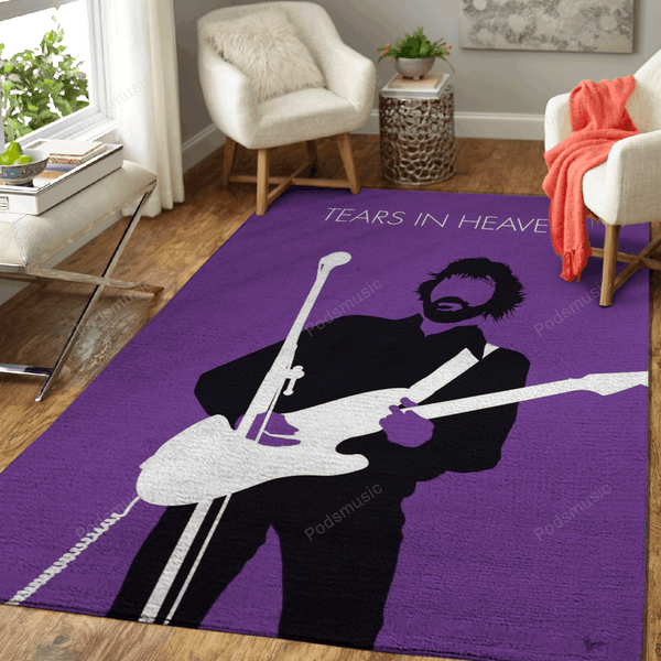 No141 MY ERIC CLAPTON Minimal Music Artwork - Minimal Music Artworks Art For Fans Area Rug Living Room Carpet Floor Decor