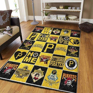 Pittsburgh Pirates Area Rug, MLB Baseball Team Logo Carpet, Living Room Rugs Floor Decor 200404