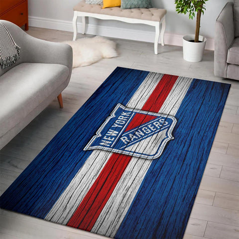 New York Rangers Area Rugs NHL Hockey Living Room Carpet Team Logo Floor Home Decor