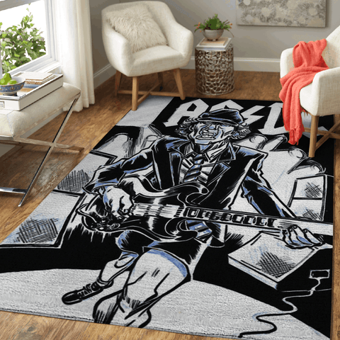 ACDC Band Art For Fans Area Rug