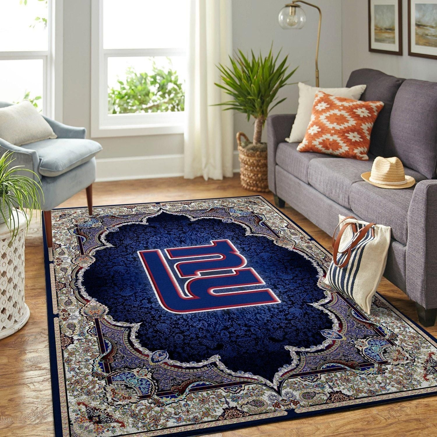 New York Giants Area Rugs NFL Football Team Living Room Carpet Carpet Sport Custom Area Floor Home Decor