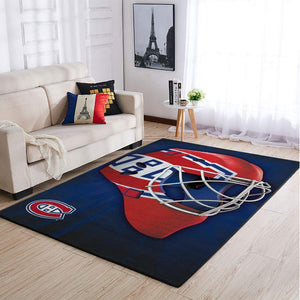 Montréal Canadiens NHL Area Rugs Team Logo Mask Style Living Room Carpet Sports Floor Decor