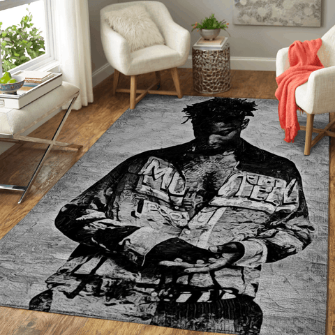 21 SAVAGE - Music Monochrome Art For Fans Area Rug Living Room Carpet Floor Decor