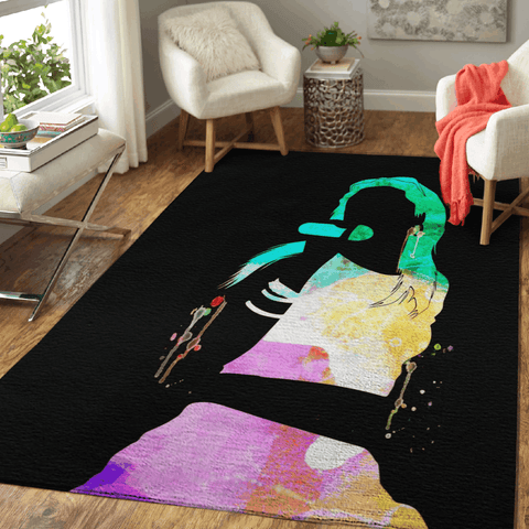 Aaliyah Watercolor - Music Legends On Stage Area Rug Living Room Carpet Floor Decor