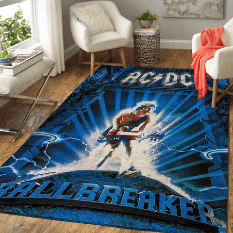 AC DC Band Music Songs Pop Art Area Rug