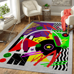 Music pop art background  - Pop Art Art For Fans Area Rug Living Room Carpet Floor Decor