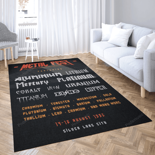 Metal Fest - Music Art For Fans Area Rug Living Room Carpet Floor Decor
