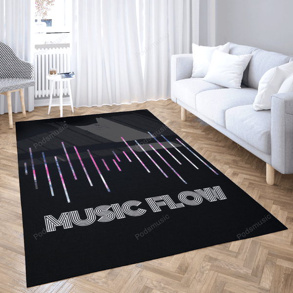 Music Flow 3 out of 8 - Music Flow Art For Fans Area Rug Living Room Carpet Floor Decor