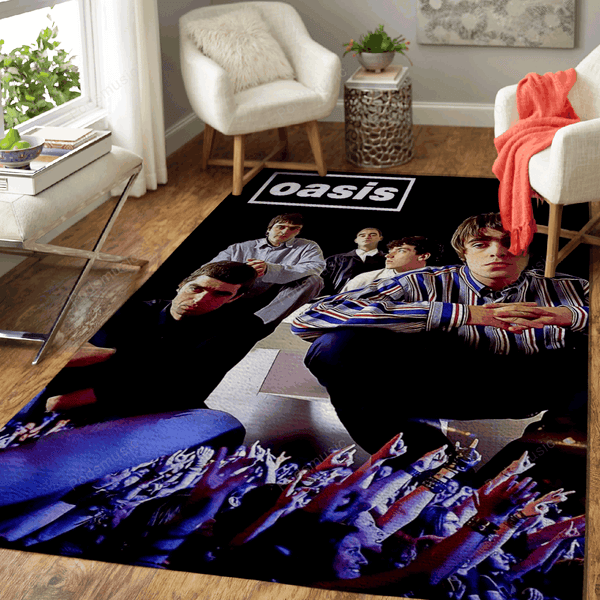 oasis band  - Music Art For Fans Area Rug Living Room Carpet Floor Decor