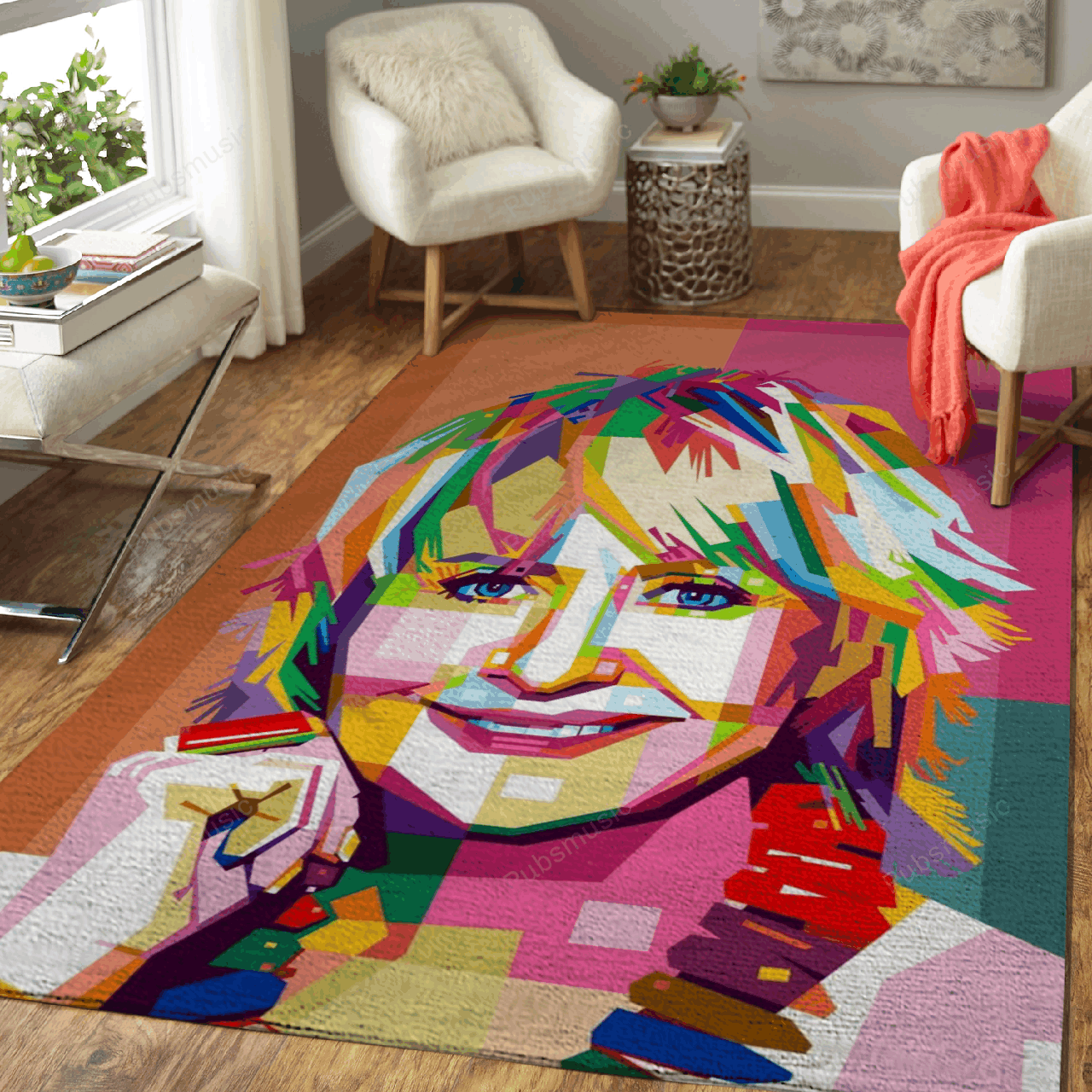 Lulu - Music Art For Fans Area Rug Living Room Carpet Floor Decor