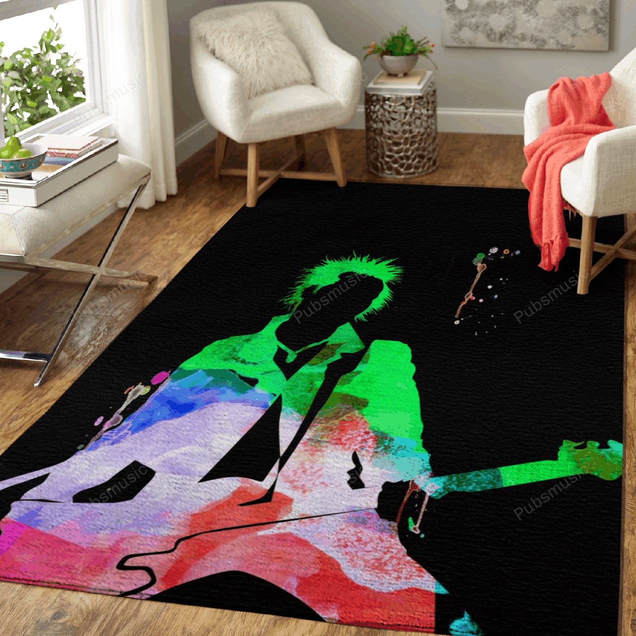 Sex Pistols Watercolor - Music Legends On Stage Art For Fans Area Rug Living Room Carpet Floor Decor