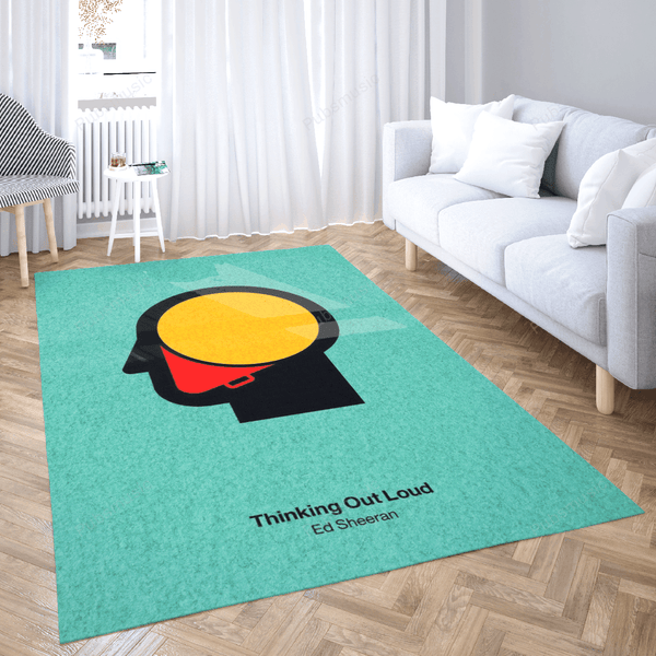Thinking Out Loud - Music Art For Fans Area Rug Living Room Carpet Floor Decor