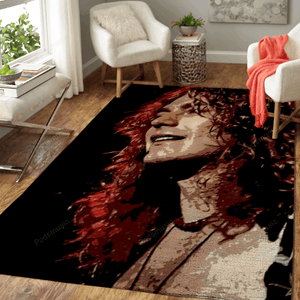 Robert Plant Cute Smile - Music Legend Art For Fans Area Rug Living Room Carpet Floor Decor