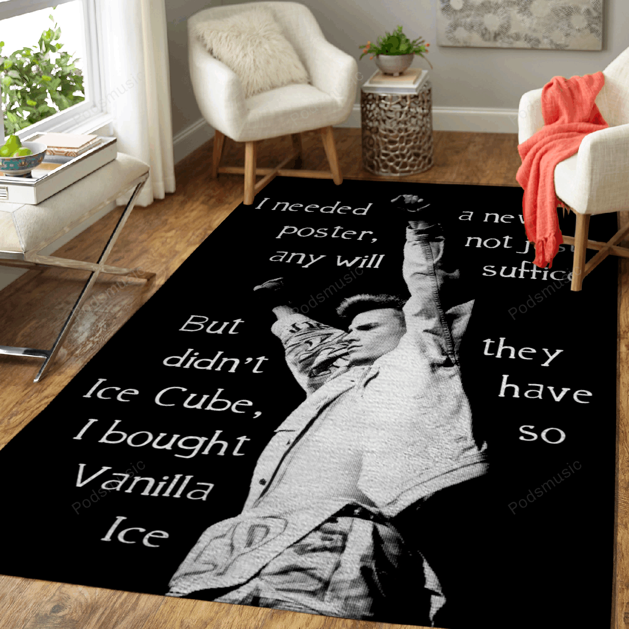 Vanilla Ice Cube - Music Film And Tv Art For Fans Area Rug Living Room Carpet Floor Decor