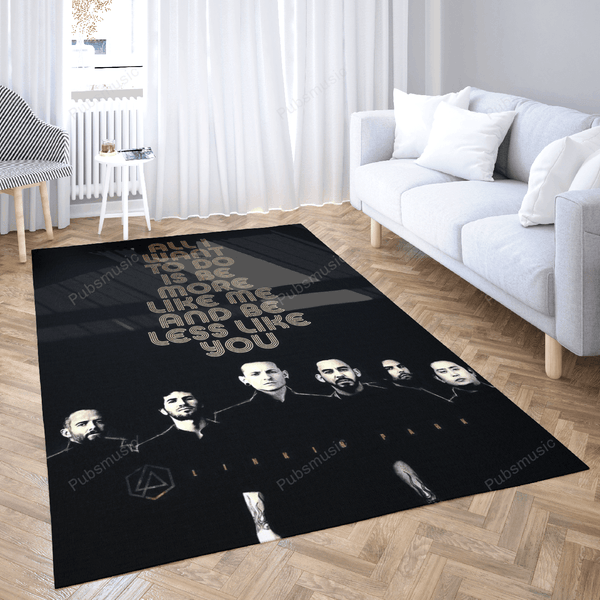 Music Rapper Linkin Park - Music Legends Art For Fans Area Rug Living Room Carpet Floor Decor