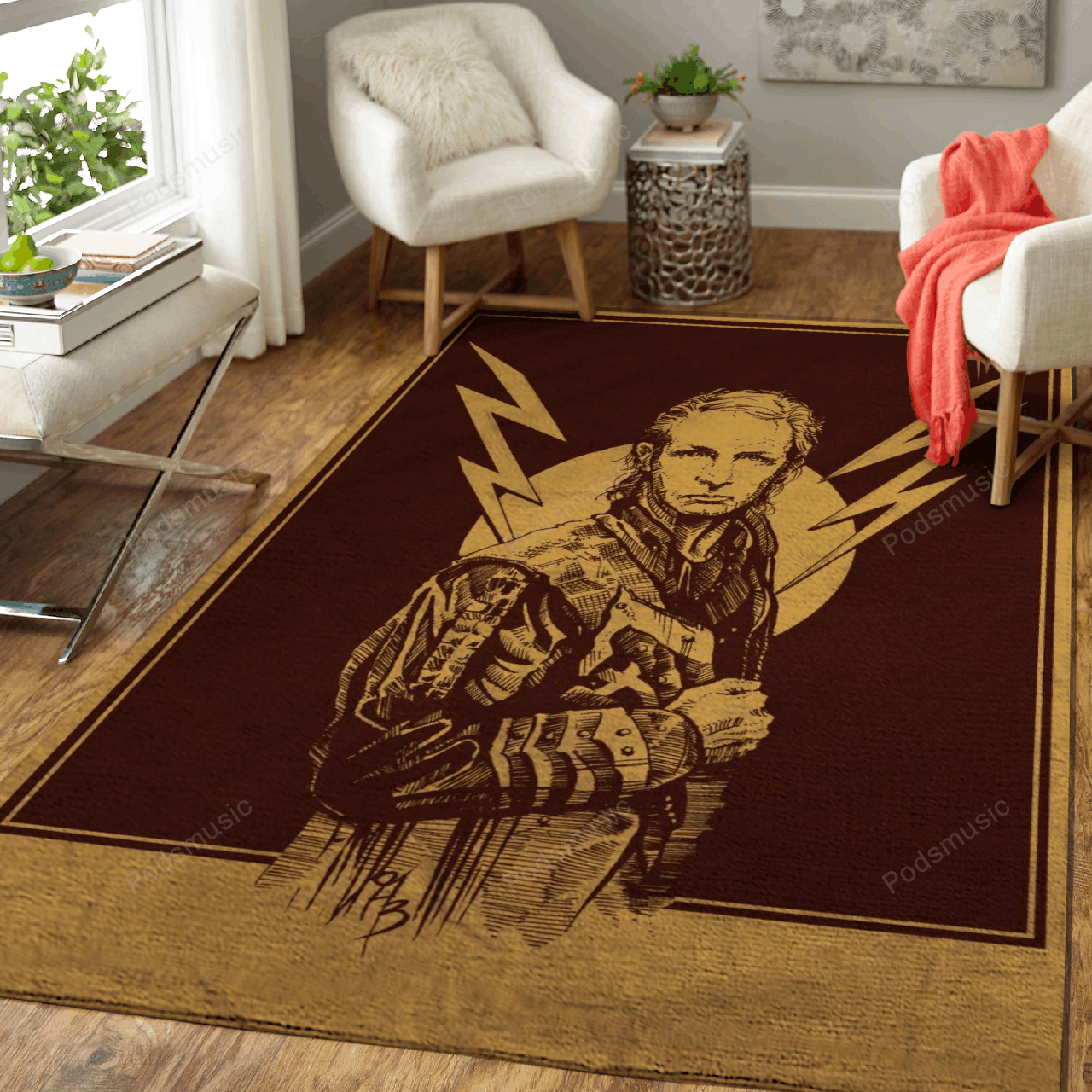 Rob Halford - Music Art For Fans Area Rug Living Room Carpet Floor Decor