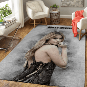 Miley Cyrus sketch - Sketch Greatest Musician Art For Fans Area Rug Living Room Carpet Floor Decor