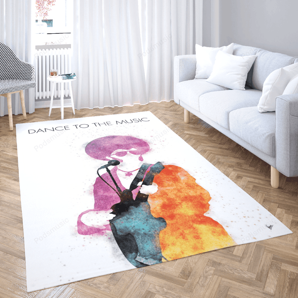 No088 Sly and the Family - Watercolor Music Artworks Art For Fans Area Rug Living Room Carpet Floor Decor