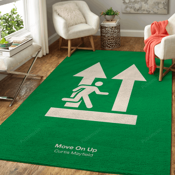 Move On Up - Music Art For Fans Area Rug Living Room Carpet Floor Decor
