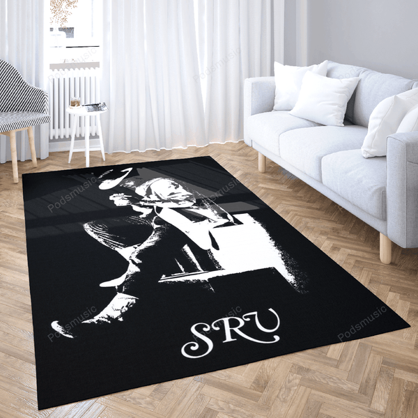 SRVStevie Ray Vaughan - Music Art For Fans Area Rug Living Room Carpet Floor Decor