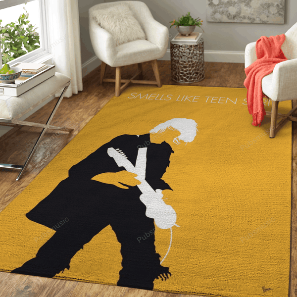 No004 MY Nirvana Minimal Music Artwork - Minimal Music Artworks Art For Fans Area Rug Living Room Carpet Floor Decor
