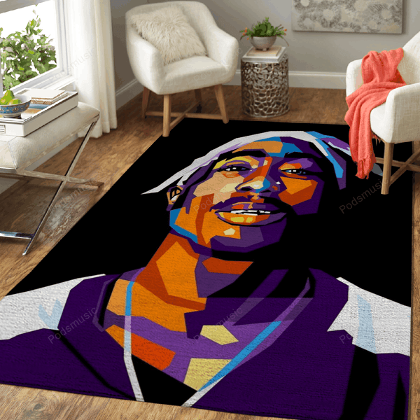 Tupac shakur  - Music Art For Fans Area Rug Living Room Carpet Floor Decor