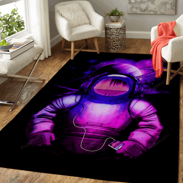 Music in space - Graphic Arts Art For Fans Area Rug Living Room Carpet Floor Decor