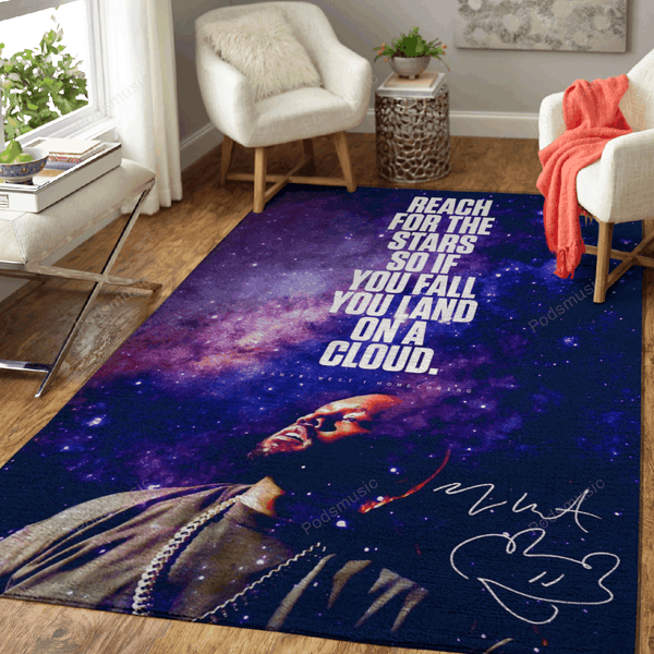 Music Rapper Kanye West - Music Legends Art For Fans Area Rug Living Room Carpet Floor Decor