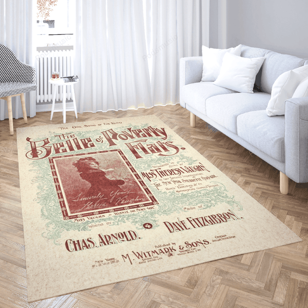 The Belle of Poverty Flats - Music Art For Fans Area Rug Living Room Carpet Floor Decor