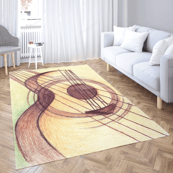 Music passion Acoustic - Passion For Music Art For Fans Area Rug Living Room Carpet Floor Decor