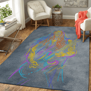 Musician with A Guitarist - Music Art For Fans Area Rug Living Room Carpet Floor Decor