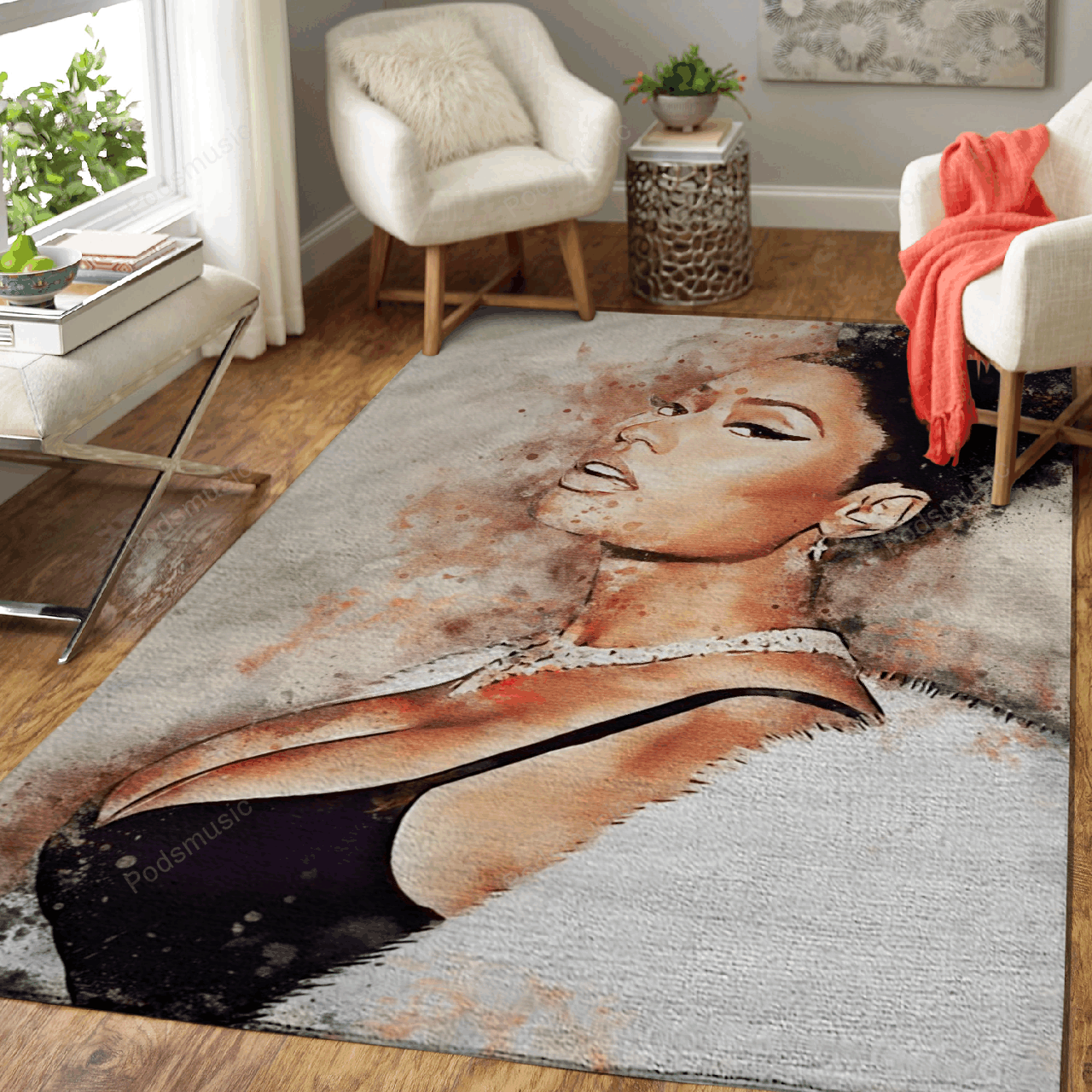 Nicki Minaj - Rapper Music World Art For Fans Area Rug Living Room Carpet Floor Decor