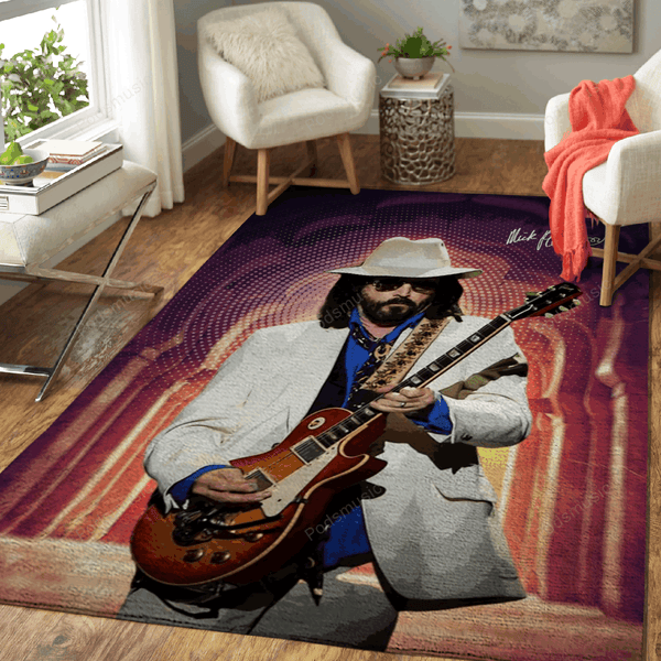 Mick Fleetwood - Music Art For Fans Area Rug Living Room Carpet Floor Decor