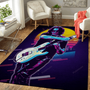 Steven Siro Vai - Artwork Music Synthwave 80S Art For Fans Area Rug Living Room Carpet Floor Decor