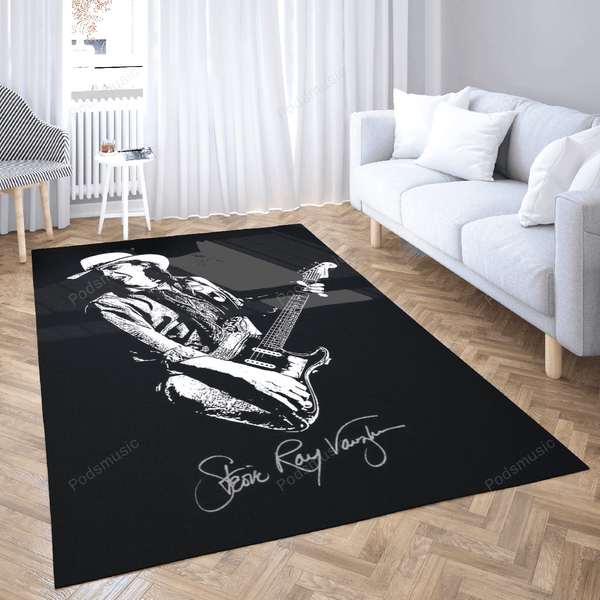 SRV Stevie Ray Vaughan - Music Art For Fans Area Rug Living Room Carpet Floor Decor