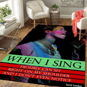 Sarah Vaughan Quote - Music Art For Fans Area Rug Living Room Carpet Floor Decor