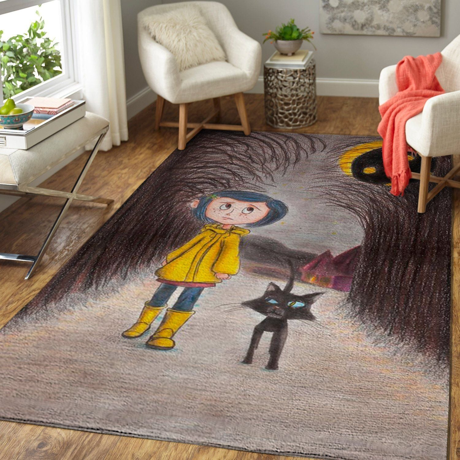 Coraline Area Rug / Movie Floor Decor 190909