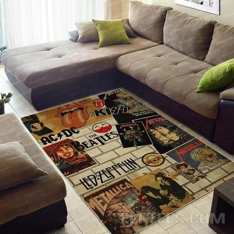 60s music Area Rug, Floor Decor